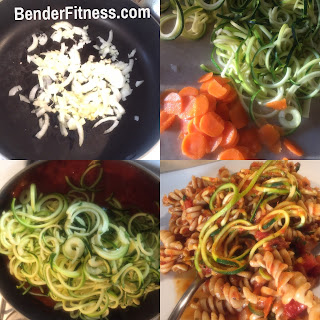 Whole Wheat & Zucchini Noodle Pasta