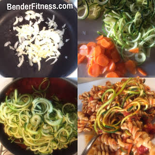 Whole Wheat & Zucchini Noodle Pasta.