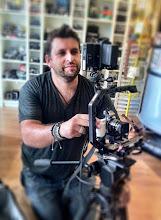 Photo: Philip Bloom on set with SHAPE PAPARAZZI HANDLE I