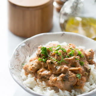 Healthy Chicken Stroganoff