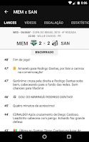 Screenshot of Santos SporTV