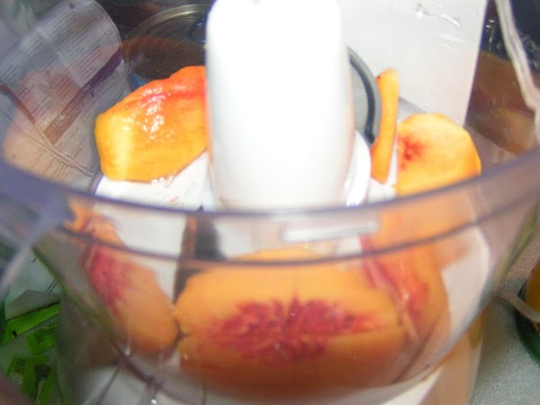 Prepare fruit; chop fine.  I use my food processer and it works great...
