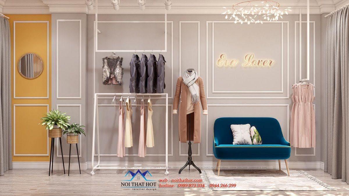 thiết kế phòng livestream shop quần áo
