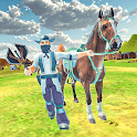 Western Cowboy Horse Riding sword Fighting Game icon