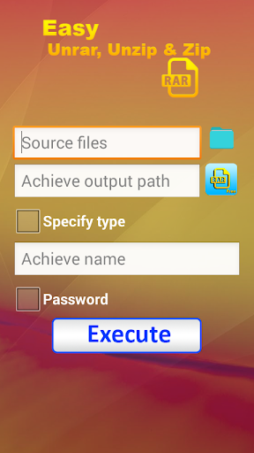 Easy Rar Unrar Zip Unzip Tool 1.0 screenshots 4