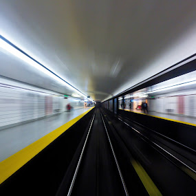 Speed 3 by Brian Carson - Uncategorized All Uncategorized ( interior, tube, toronto, zoom, vehicle, commuter, blur, travel, transportation, express, transit, city, subway, transport, passage, depot, movement, rail, commute, action, train, trip, motion, downtown, move, commuting, abstract, platform, ttc, rush, moving, canada, speed, station, metro, journey, ontario, burst, tracks, railway, canadian, lines, fast, rushhour, underground, tunnel,  )