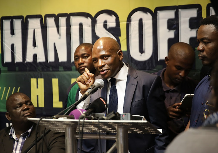 Shame shifting: Hlaudi Motsoeneng briefs the media on Wednesday on his response to an  ad hoc committee's recommendations on the  financial state of the SABC,  local content  and other issues. Picture: THE TIMES/ALON SKUY