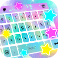 Shiny Stars Live Keyboard Background