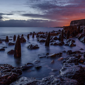 by Nigel Hepplewhite - Landscapes Sunsets & Sunrises ( landcape, sunrise, seascape, northeast, seaham,  )