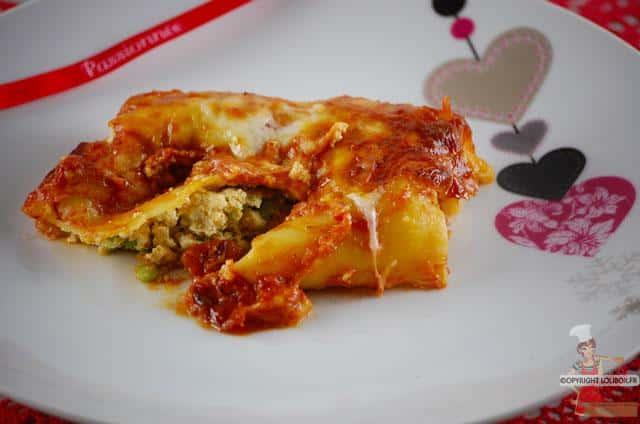 Salmon and Mushy Pea Cannelloni