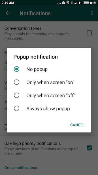 Use WhatsApp Notifications to Read Messages in Stealth-mode
