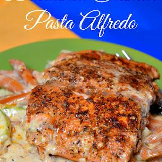 Blackened Salmon Pasta Alfredo
