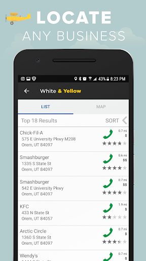 White & Yellow Pages screenshot 3