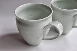 Photo: 青白磁 蛍手マグカップ/青白磁 マグカップ