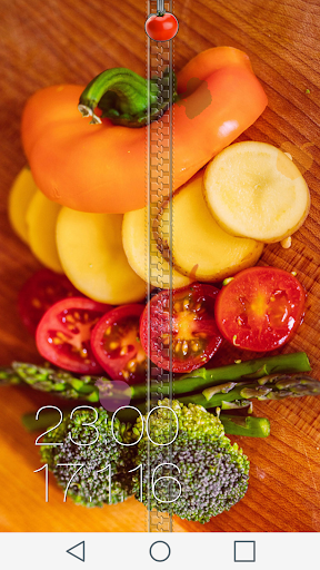 Veggie Zipper Lock Screen