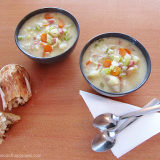 Potato Ham and Leek Soup.