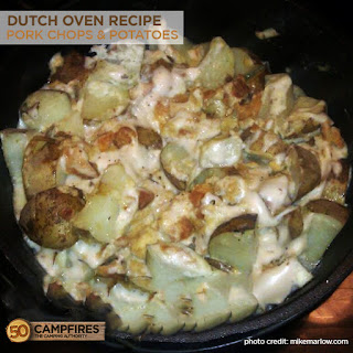 Dutch Oven Pork Chops and Potatoes.