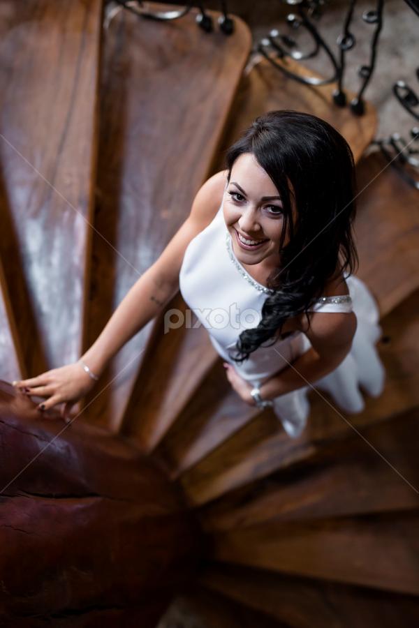 Bride by Lood Goosen (LWG Photo) - Wedding Bride ( wedding photography, stairs, wedding photographers, wedding day, weddings, wedding, brides, getting ready, wedding dress, wedding photographer, bride )