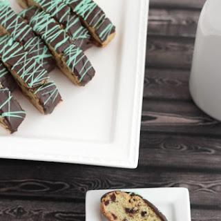 Mint Chocolate Chip Biscotti