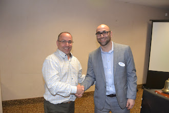 Photo: Georges with Sens ticket winner ($750 raised for ASHRAE research) - tickets donated by Trane