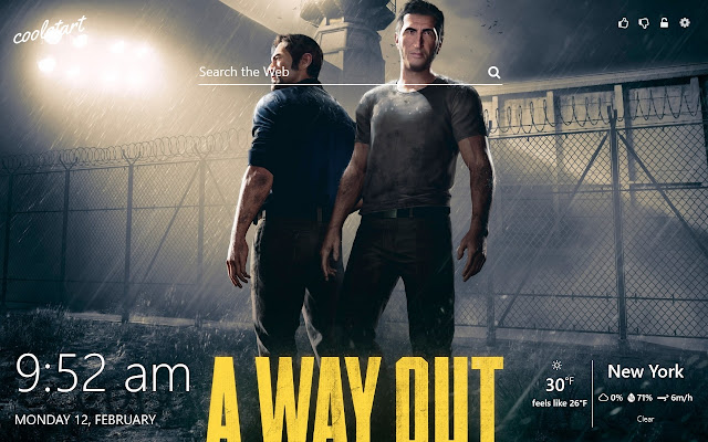 A Way Out HD Wallpapers New Tab Games  Theme