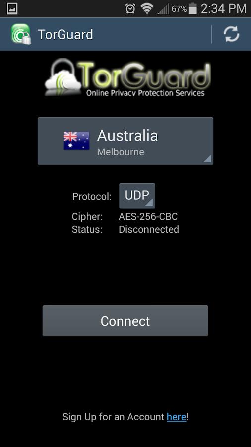 TorGuard VPN- screenshot