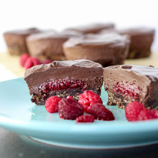 Mini Chocolate and Raspberry Vegan Cheesecakes Recipe