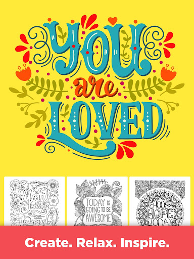 Inspirational Quotes Coloring Pages