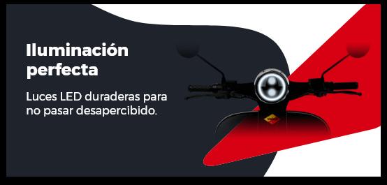 Iluminación led moto eléctrica