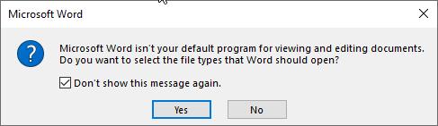 Microsoft Word colocar como predefinido