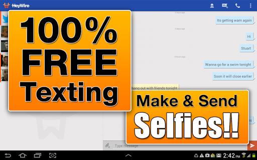 GoHeyWire Text FREE Texting screenshot 1