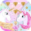 Glitter Unicorn Zipper Lock Screen icon