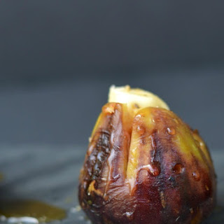 Grilled Brie Stuffed Figs with Honey.