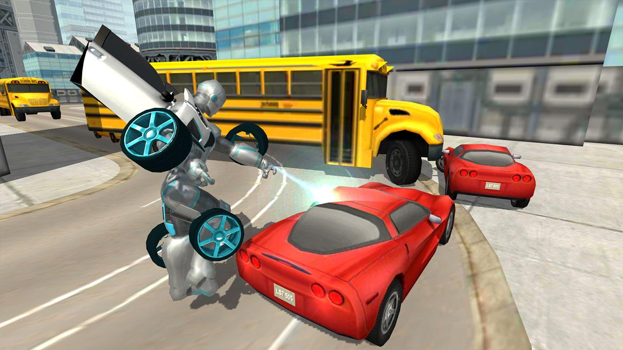 Flying Car Robot Flight Drive Simulator Game 2017- screenshot