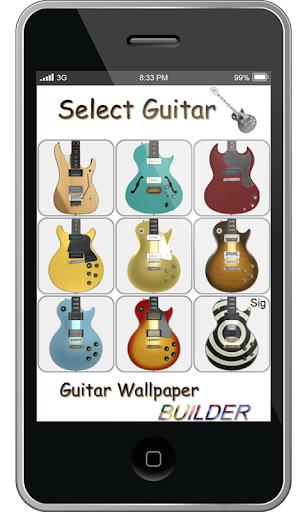 吉他壁紙製作