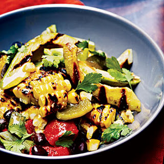 Grilled Corn, Poblano, and Black Bean Salad Recipe