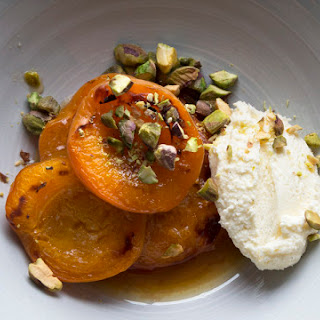 Grilled Stone fruit with Whipped Ricotta
