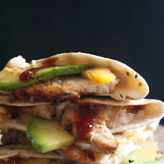 Grilled Chicken and Pineapple Quesadilla.