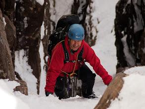 Photo: Pete climbing An Teallach