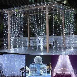 Instalatie 132 LED, ploaie de lumini, 3x1 M