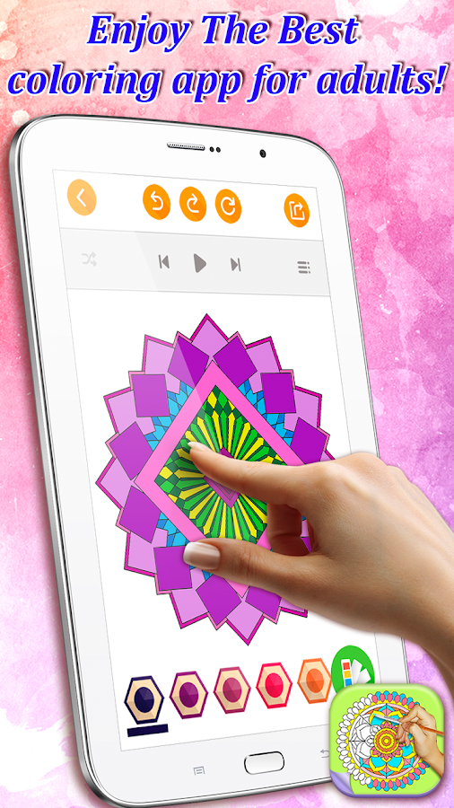 abstract patterns relax coloring book app screenshot - Best Coloring Book App
