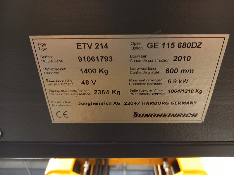 Picture of a JUNGHEINRICH ETV 214