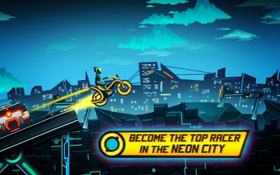 Bike Race Game: Traffic Rider Of Neon City APK screenshot thumbnail 3