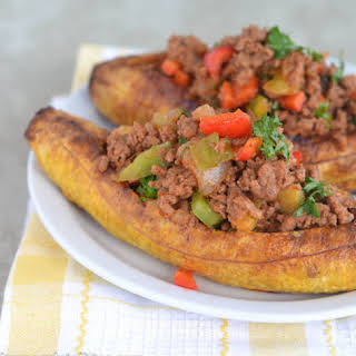 Stuffed Baked Plantains.