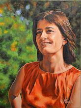 Photo: Raquel, retrato al óleo sobre lienzo