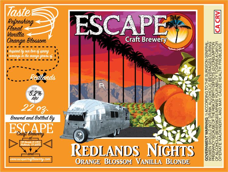 Logo of Escape Redlands Nights Orange Blossom Vanilla Blonde