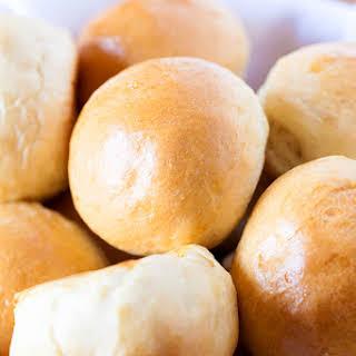 Homemade White Bread Rolls.