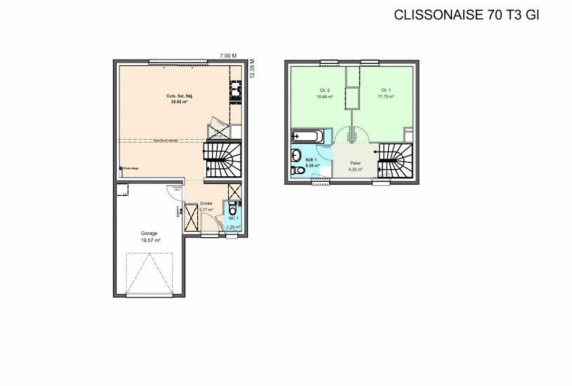 Vente Terrain + Maison - Terrain : 480m² - Maison : 90m² à Barbâtre (85630)