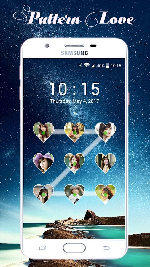 Lock screen pattern photo- screenshot