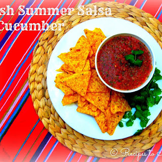 Fresh Summer Salsa with Cucumber